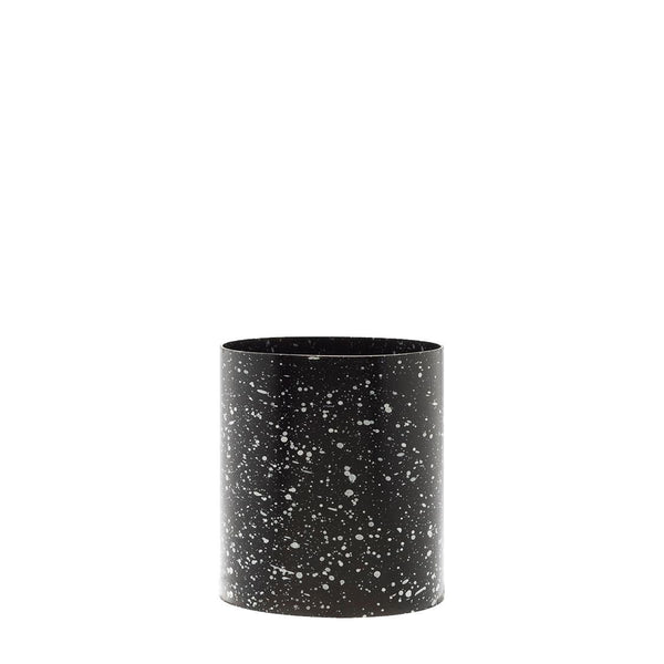 splatter pot - black