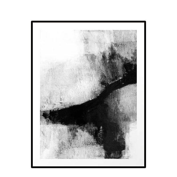 black + white wash no.2 framed