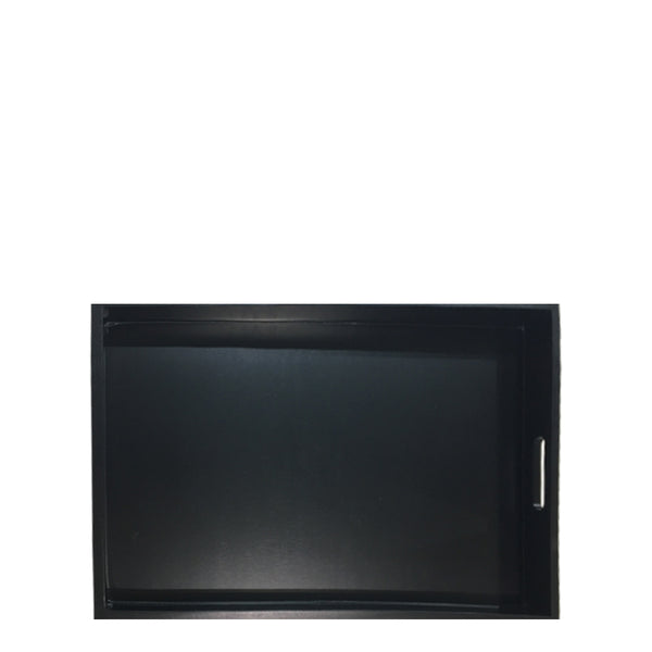 rectangle black tray small