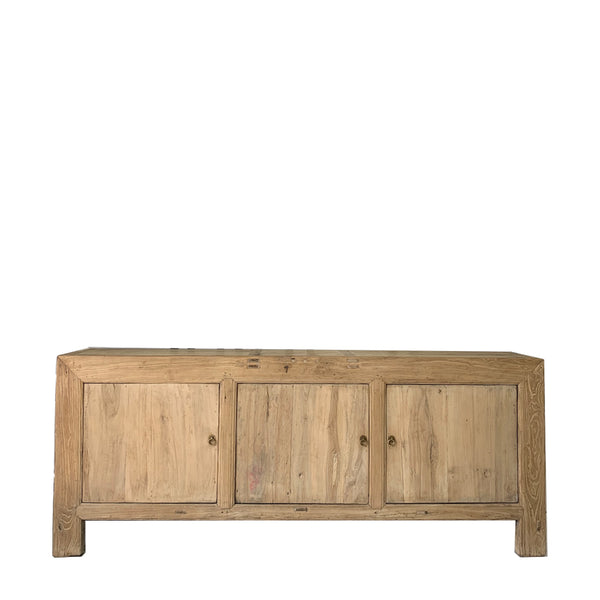 recycled elm 3 door console