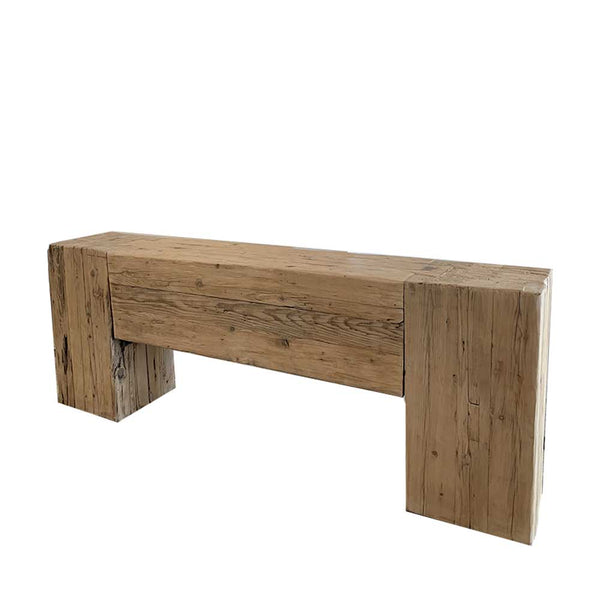 recycled elm beam console