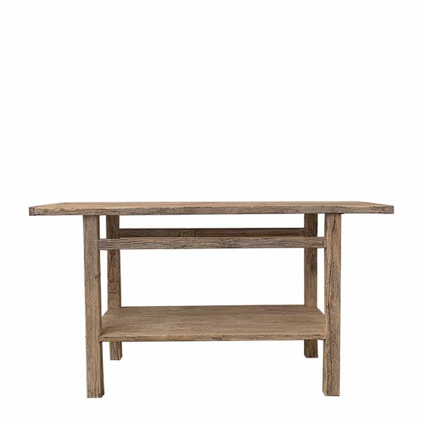 recycled elm console table 1.4m