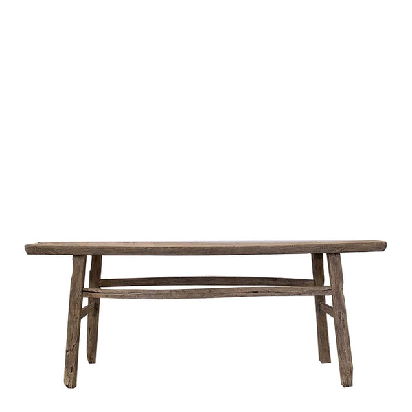 recycled elm console table 2