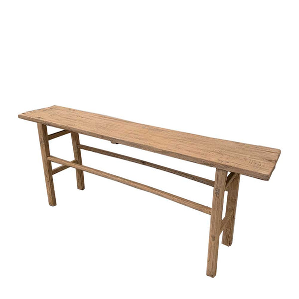 recycled elm console table 3