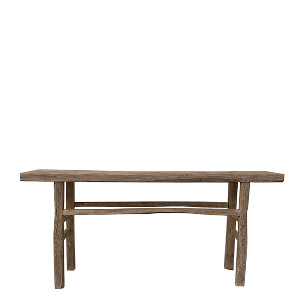 recycled elm console table 5