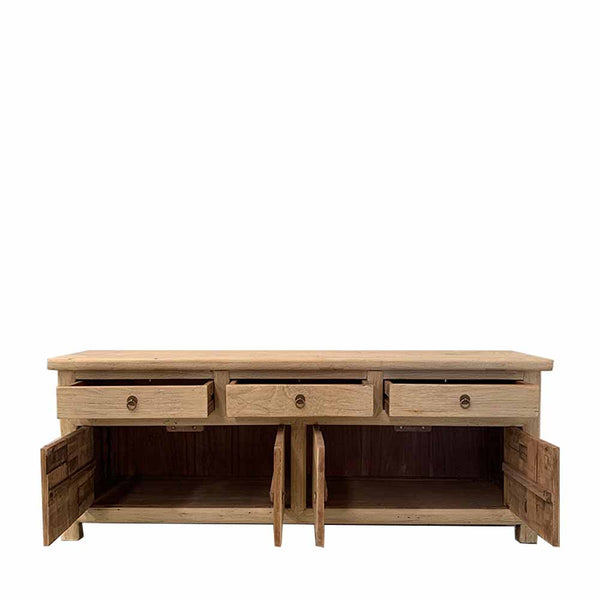 recycled elm tv unit