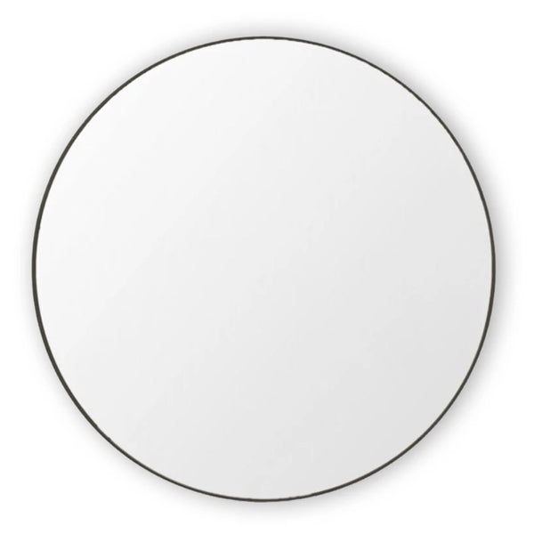 round mirror black large