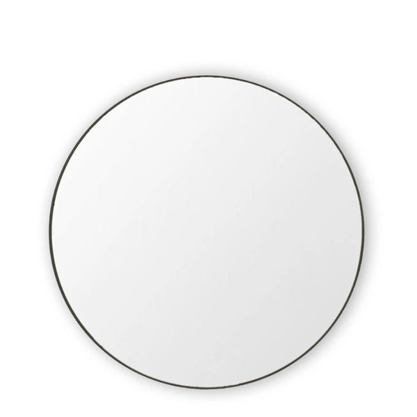 round mirror black small