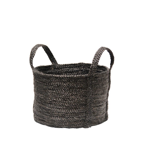 jute basket charcoal - round
