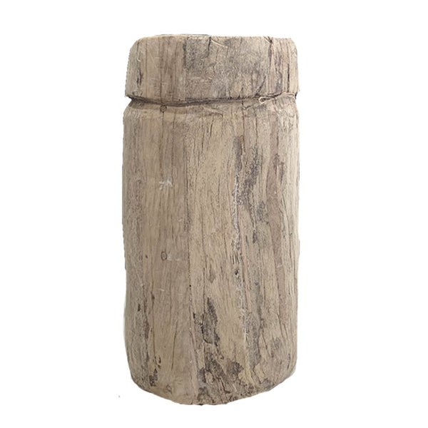 rustic timber pot large
