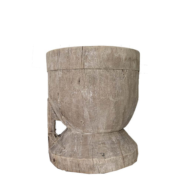 rustic timber pot small