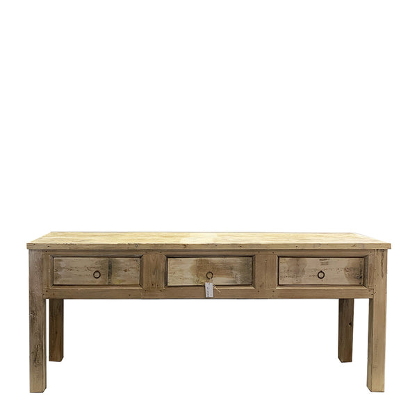 rustic console 3 drawer