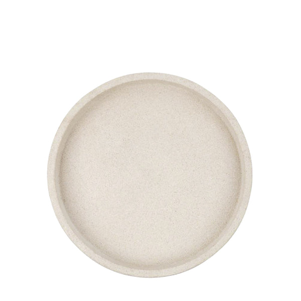 round concrete tray small sand
