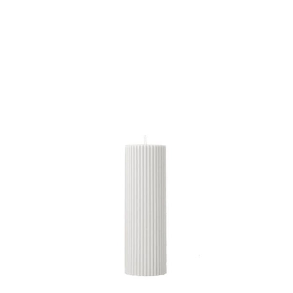 wide pillar candle cream white