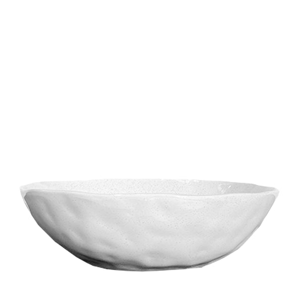 speckle serving bowl white