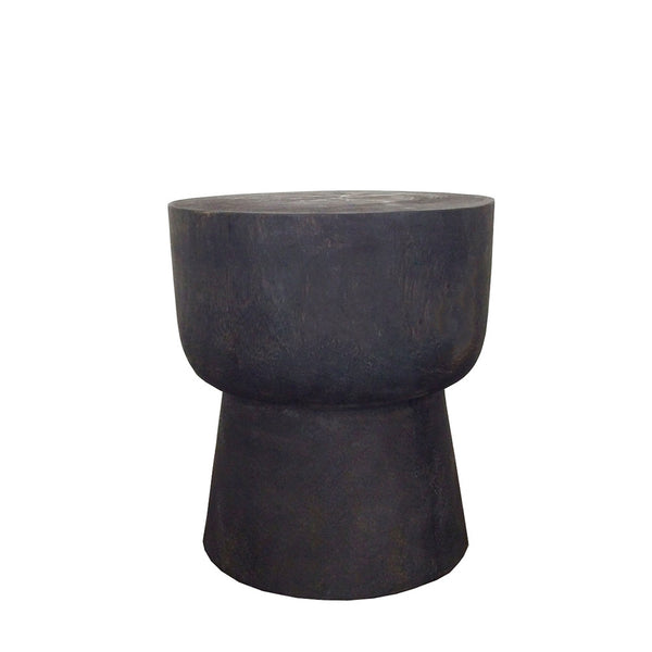 suar wood side table - black
