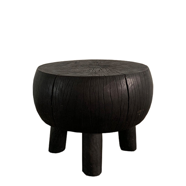 leto solid wood side table