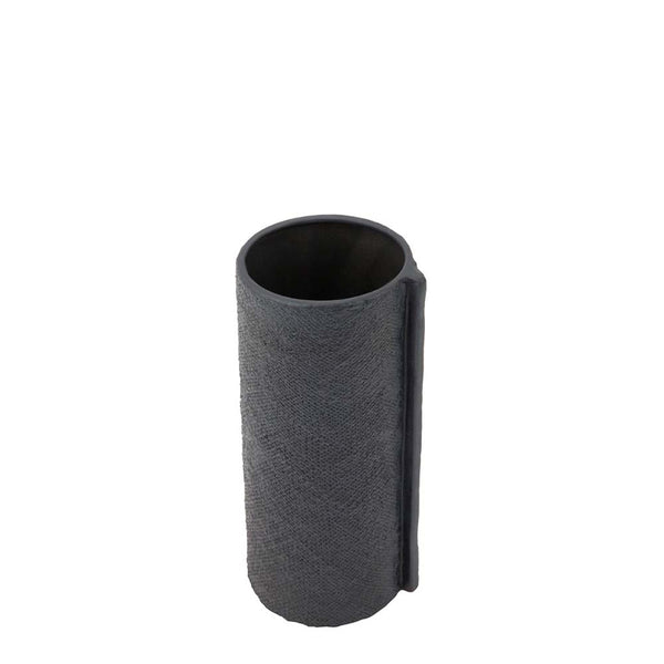wrap vase small charcoal