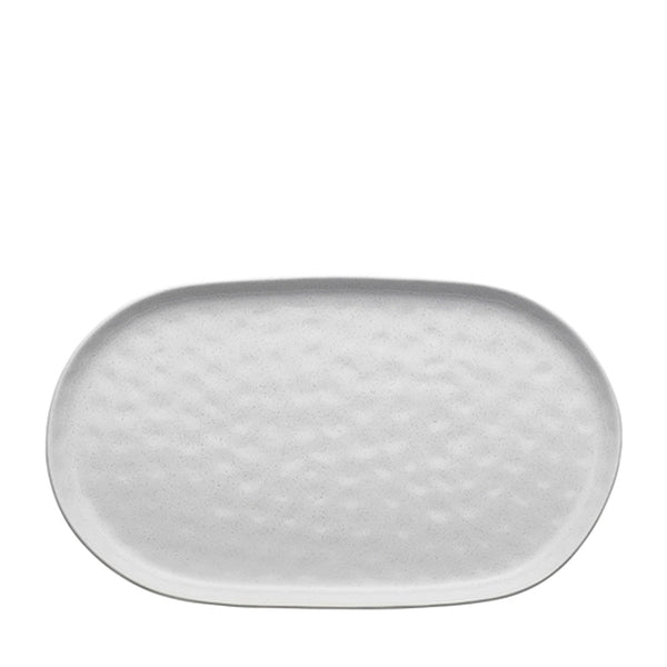 speckle oval serving platter white