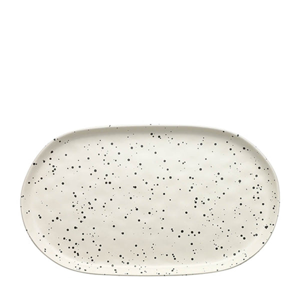 speckle polka oval serving platter