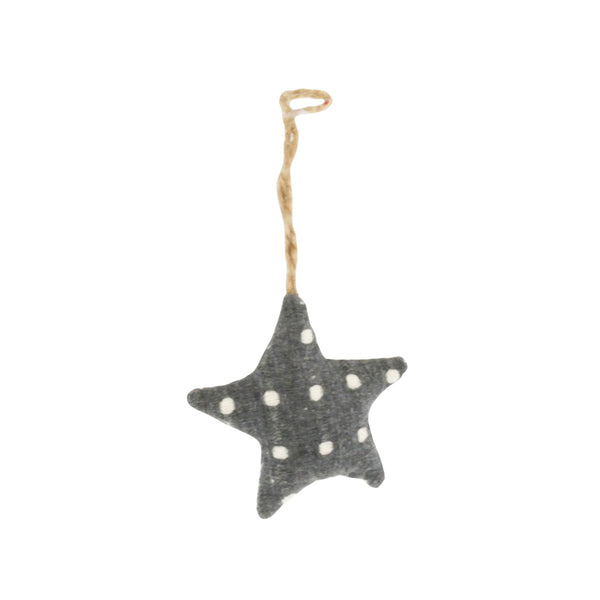 star ornament - grey spot