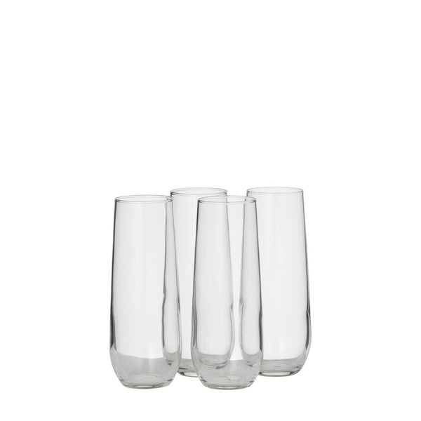 stemless flute glass - set of 4