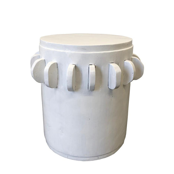 white sugar stool
