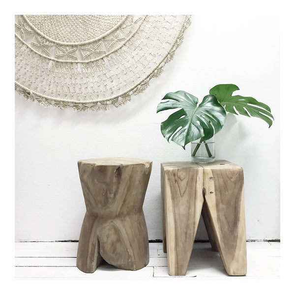hourglass stool / side table