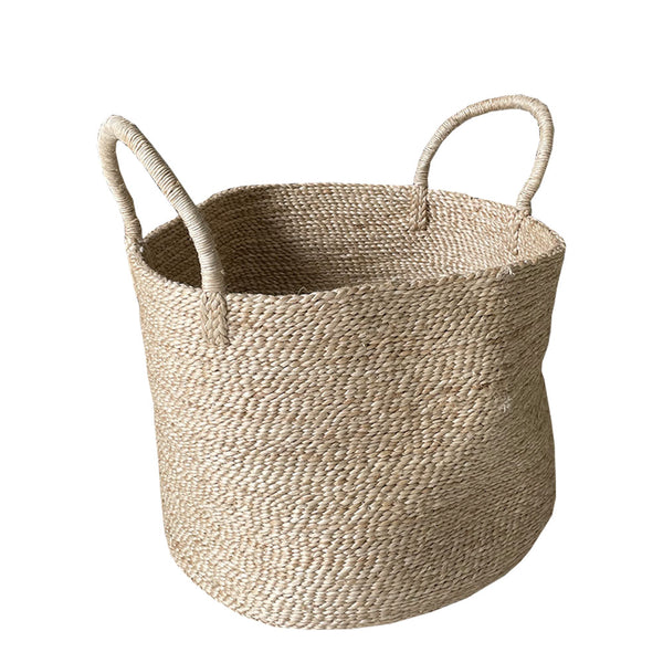 jute basket large round natural