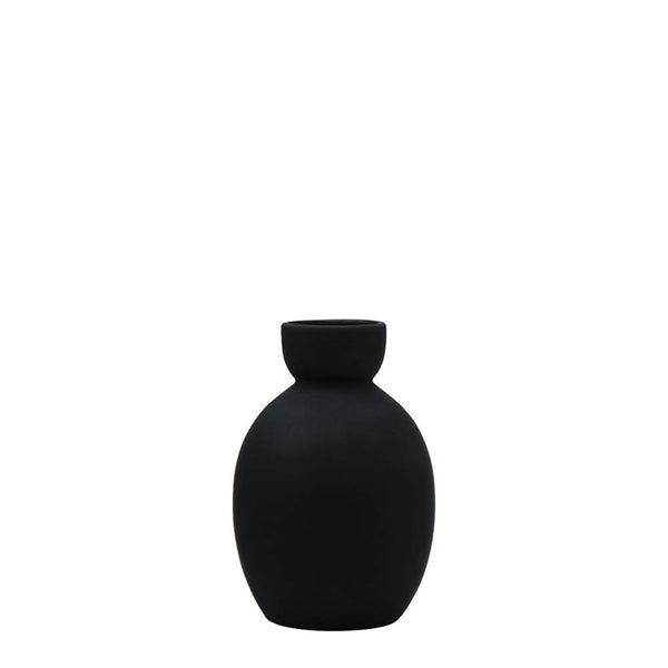tate oval vase black