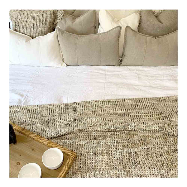 wabi ivory silk throw