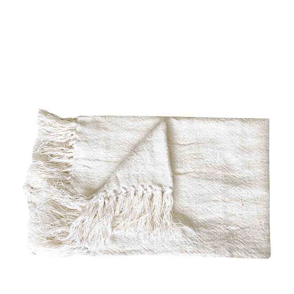bedouin throw ivory
