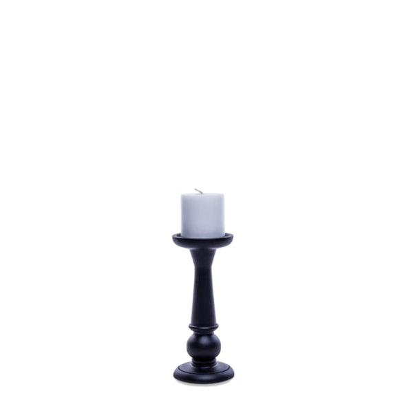 tiered candlestick small black