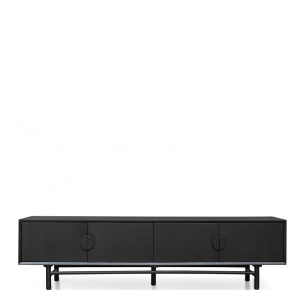 oak tv unit matte black