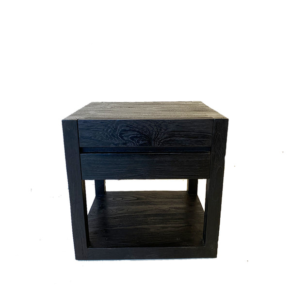 urban bedside table black