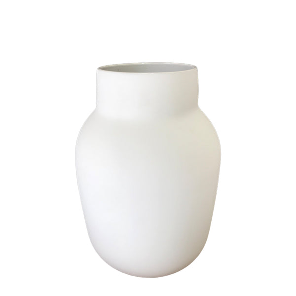 tub vase white medium