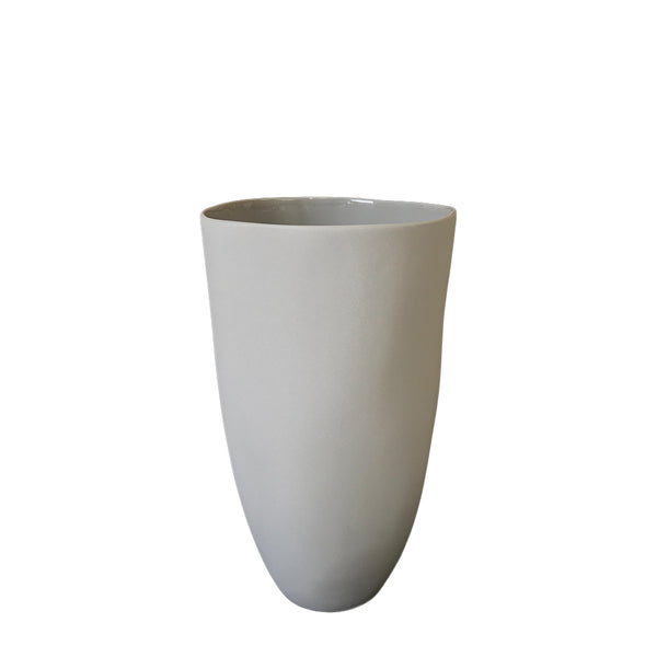 flax tall vase - grey