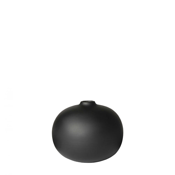 taro vase black small