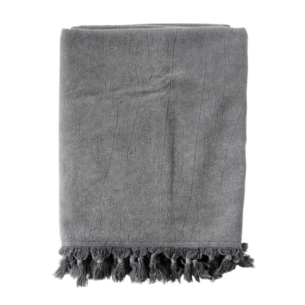 vintage wash towel charcoal