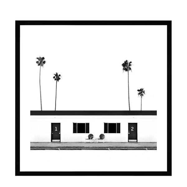 palm springs black + white framed
