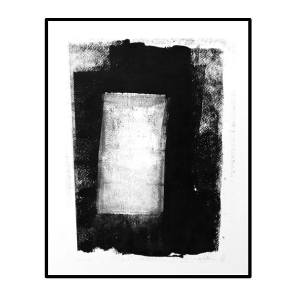 black + white wash no.1 framed