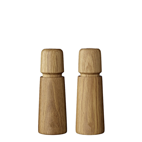 oak salt + pepper mill