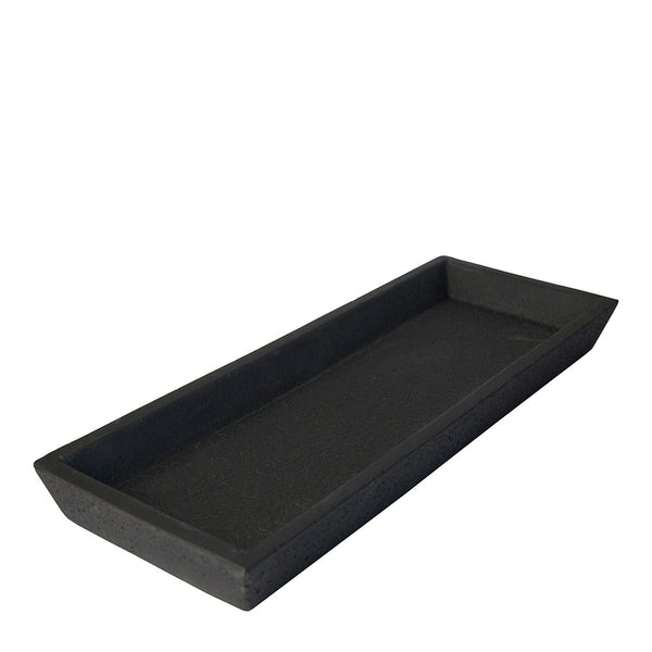 concrete tray rectangle black