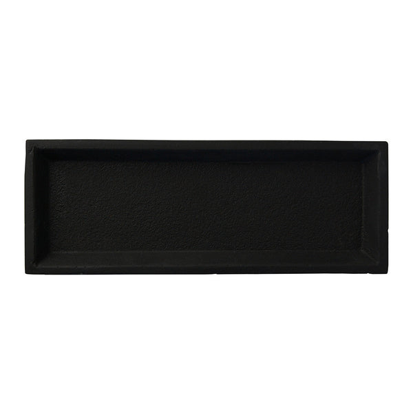 concrete tray rectangle - black