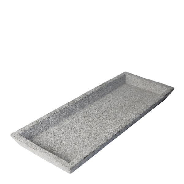 concrete tray rectangle - natural