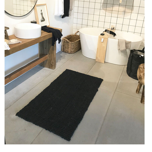 jute doormat large graphite