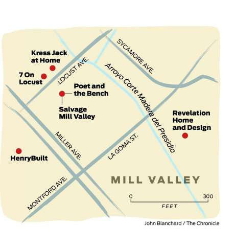 San Francisco Chronicle Travel: Mill Valley Design Destinations & Poet and the Bench
