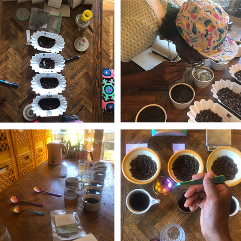 Cute Coffee Cupping Taste Test Brewing Coffee