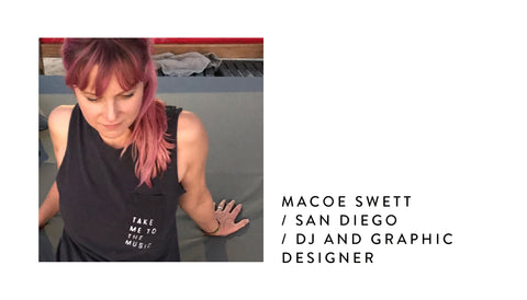 Macoe Swett | DJ and Graphic Designer | Music Mix x Poet and the Bench