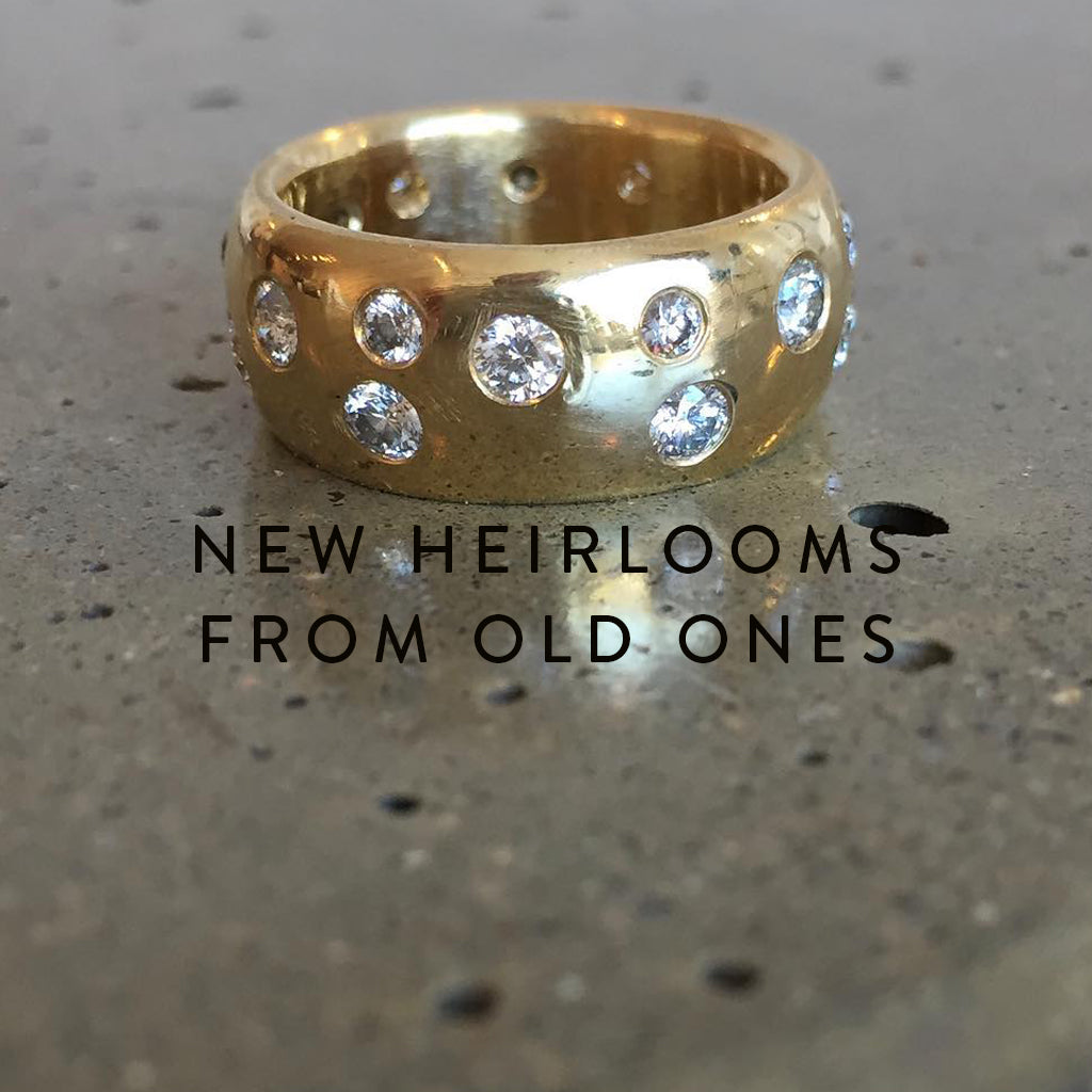 Jeffrey Levin designs and crafts new heirlooms from old ones. Redesigning with the spirt and energy of the past.